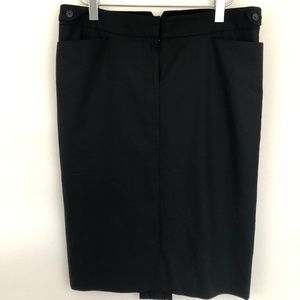 Club Monaco Pencil Faux Split Career Skirt Black 4